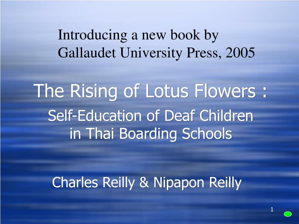 the rising of lotus flowers self education of deaf children in thai boarding schools l.