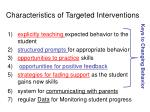characteristics of targeted interventions