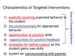 characteristics of targeted interventions40