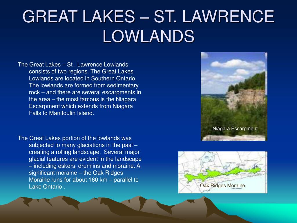 GREAT LAKES – ST. LAWRENCE LOWLANDS