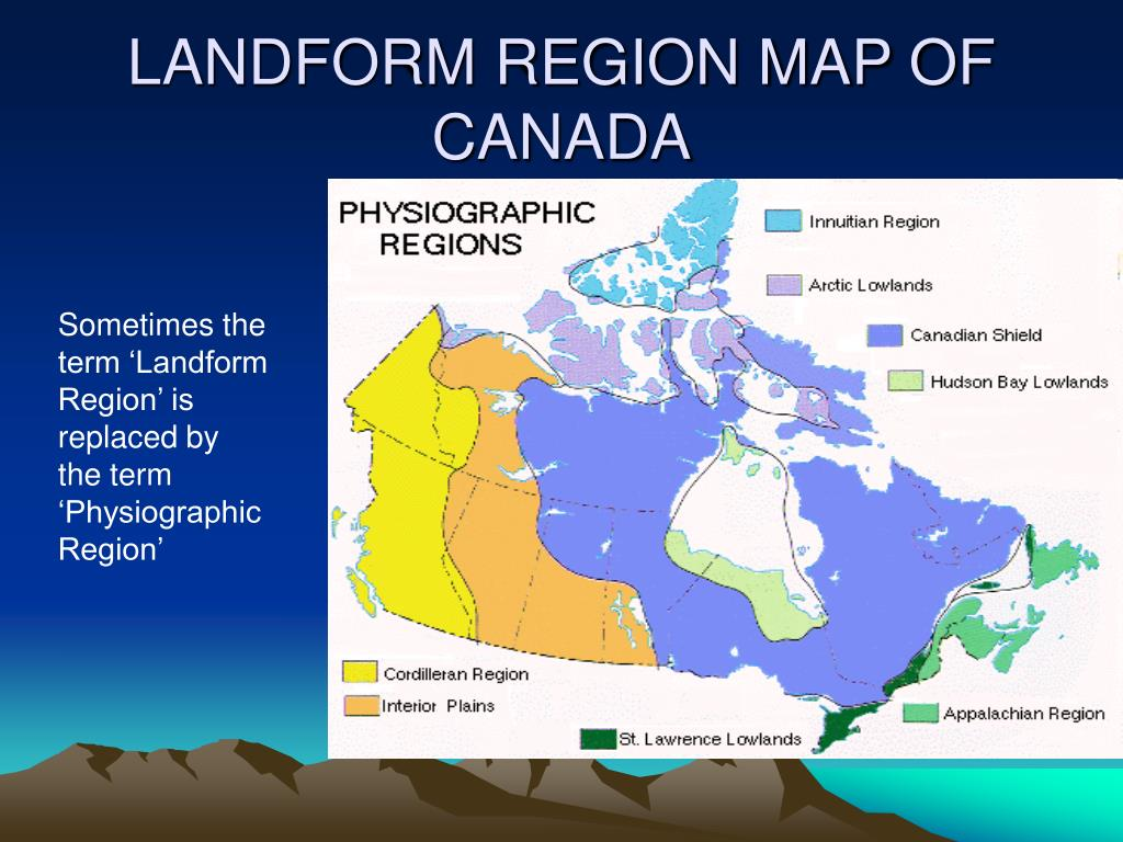 LANDFORM REGION MAP OF CANADA