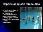 deporte adaptado terap utico