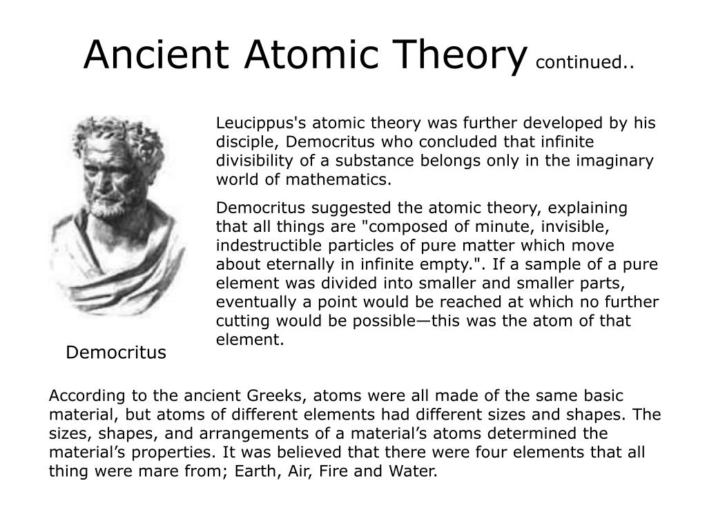 Ancient Atomic Theory