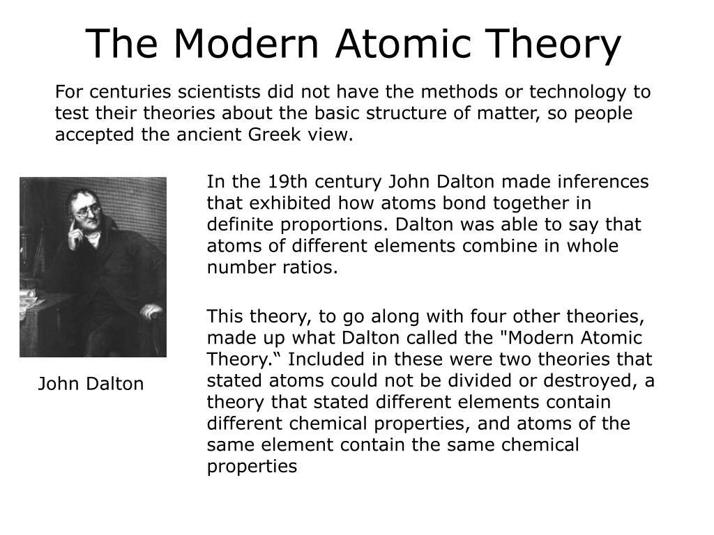 The Modern Atomic Theory