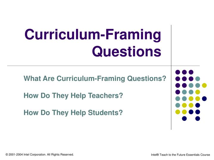 curriculum framing questions n.
