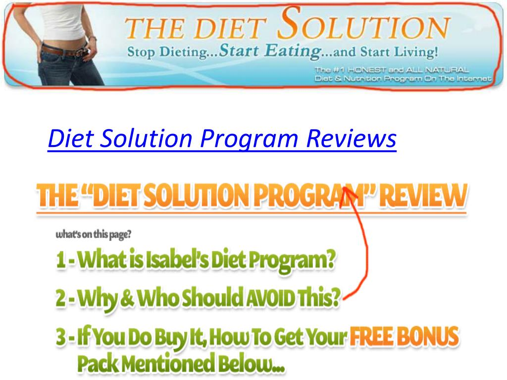 Diet Solution Program Reviews