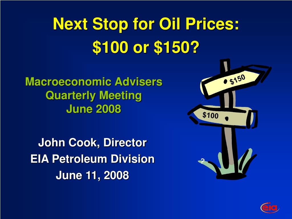 Next Stop for Oil Prices: