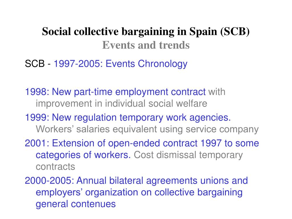Social collective bargaining in Spain (SCB)