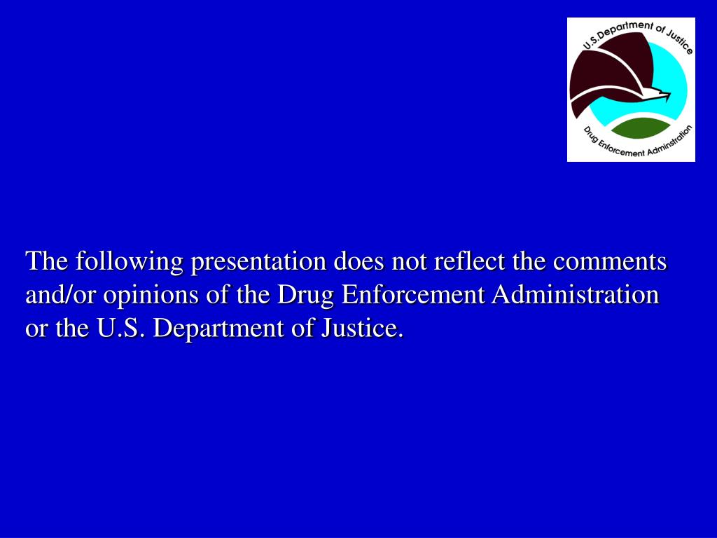 The following presentation does not reflect the comments