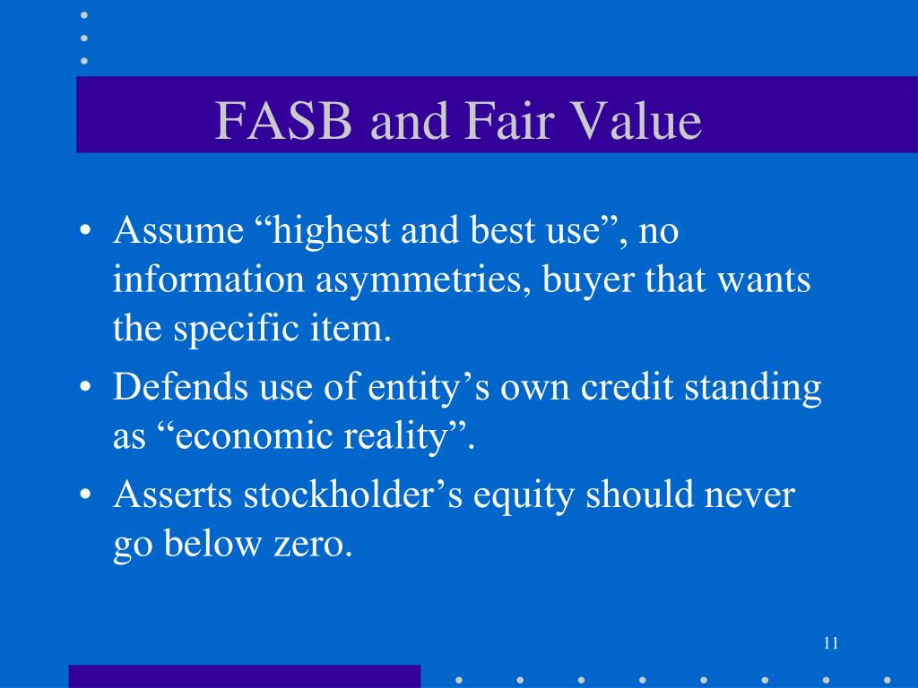 FASB and Fair Value