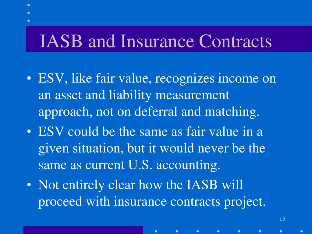 IASB and Insurance Contracts