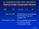 1st generation cpr devices external cardiac compression devices