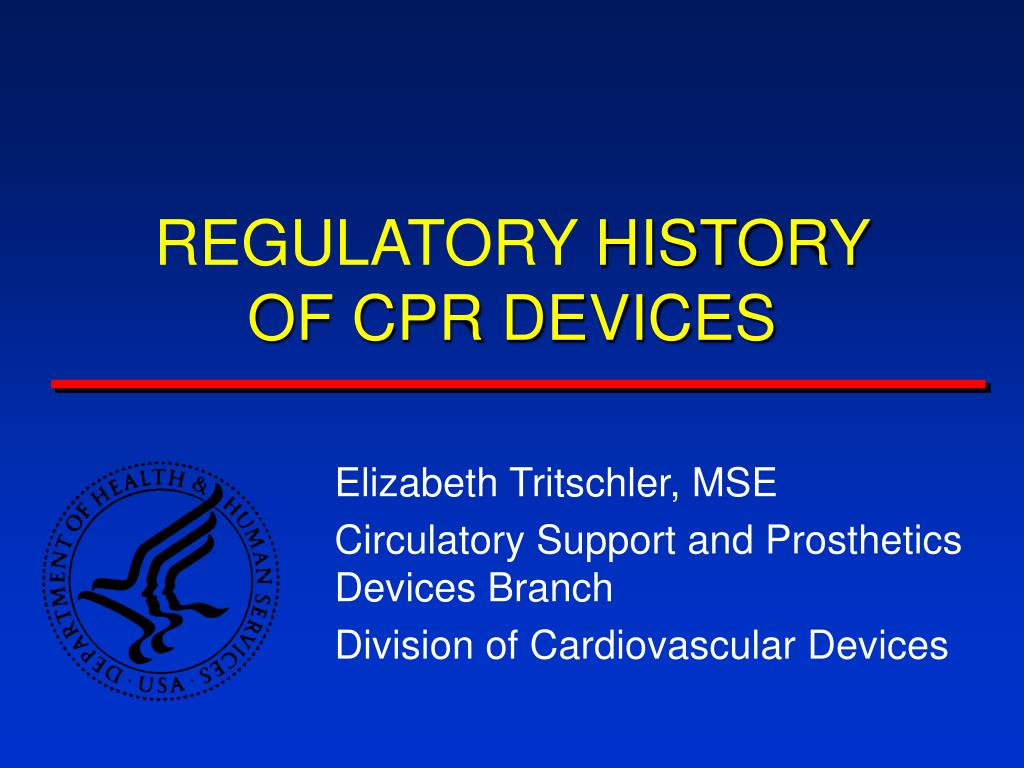 regulatory history of cpr devices l.