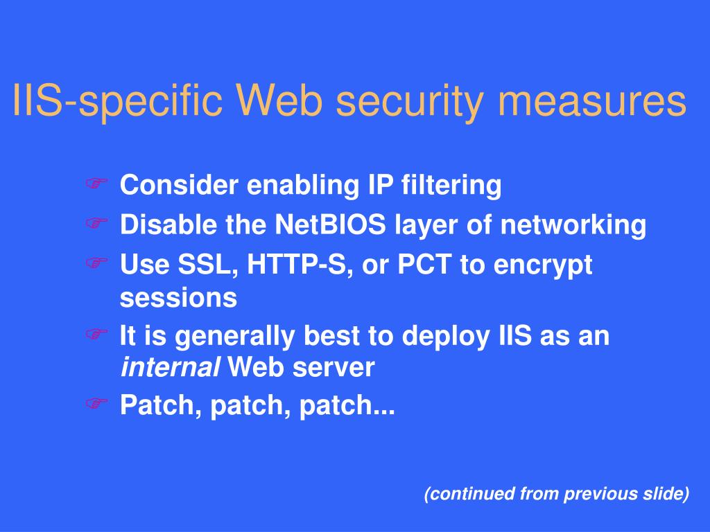 PPT - Perils and Pitfalls of IIS Web Security PowerPoint