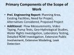 primary components of the scope of work11