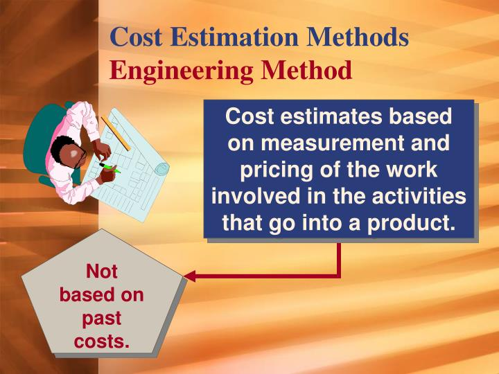 cost estimation methods A visual approach to construction cost estimating phuwadol samphaongoen 25 inefficiencies associated with today's detailed estimating methods.