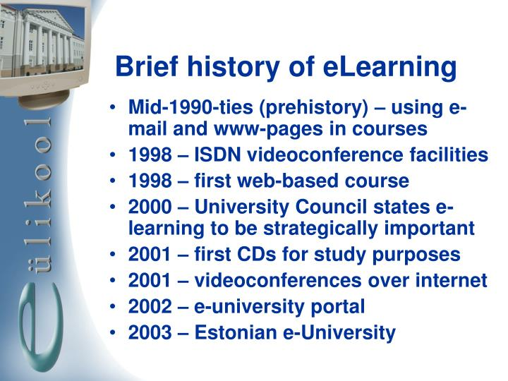 Brief history of elearning