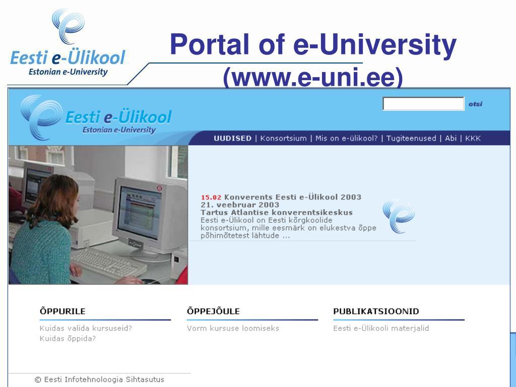 Portal of e-University