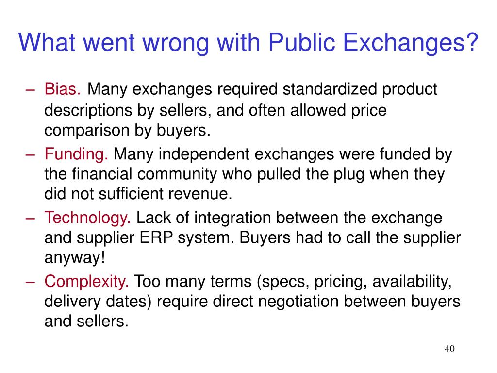 What went wrong with Public Exchanges?