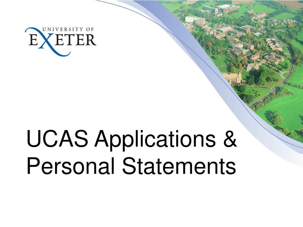 UCAS Applications & Personal Statements