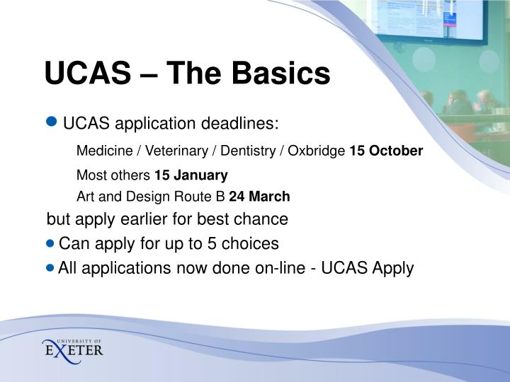 UCAS – The Basics