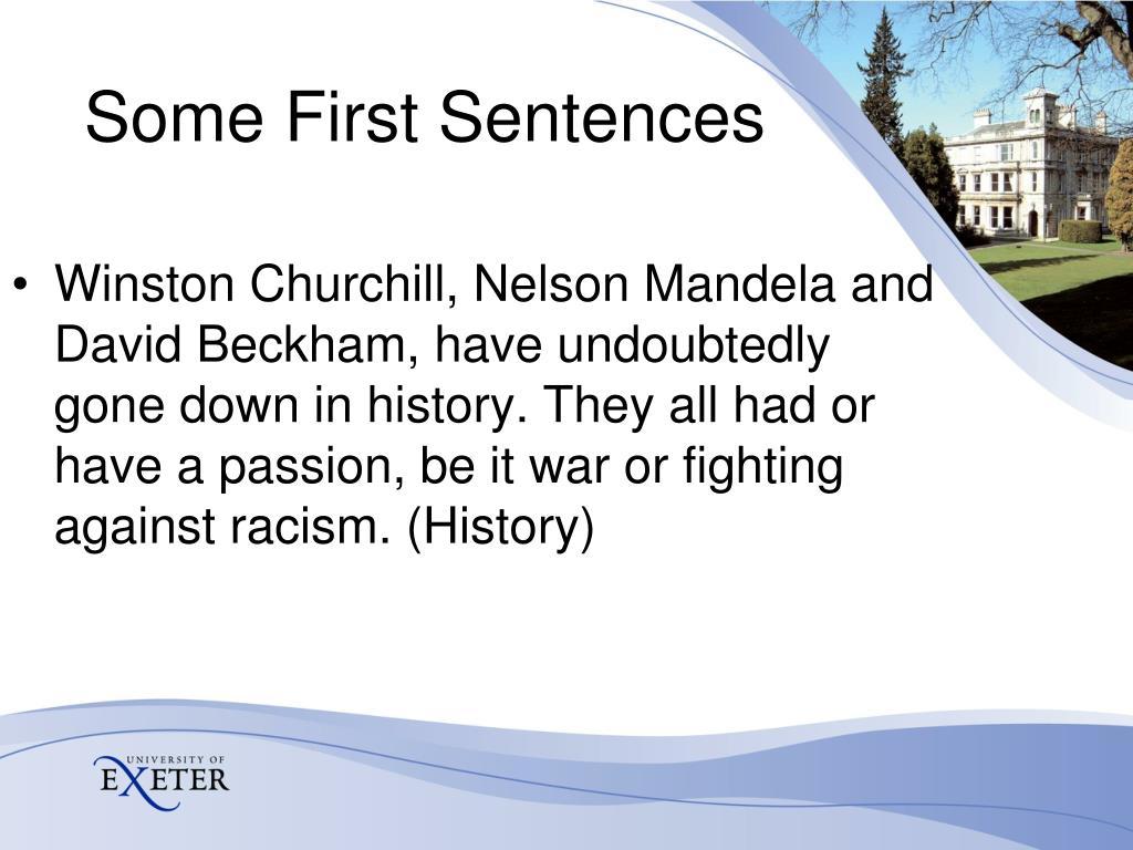 Winston Churchill, Nelson Mandela and
