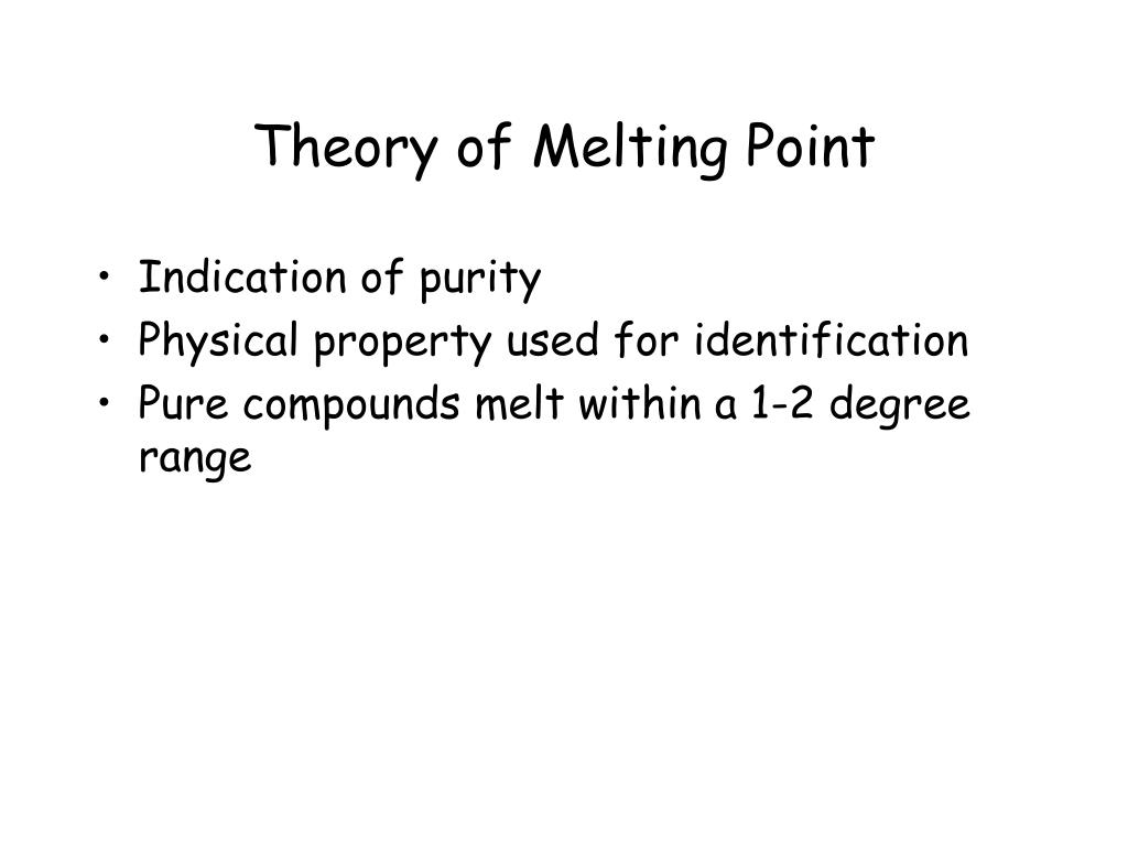 theory of melting point l.