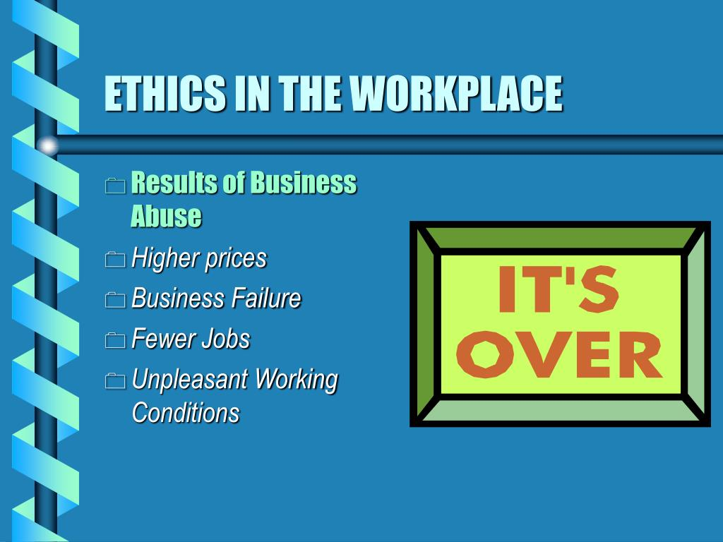 essay ethics in the workplace