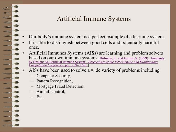 artificial immune systems n.