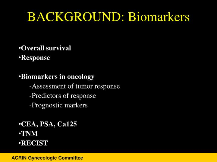Background biomarkers