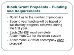 block grant proposals funding and requirements7