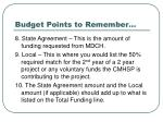 budget points to remember104