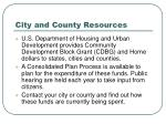 city and county resources