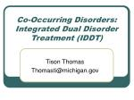 co occurring disorders integrated dual disorder treatment iddt