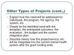 other types of projects cont50