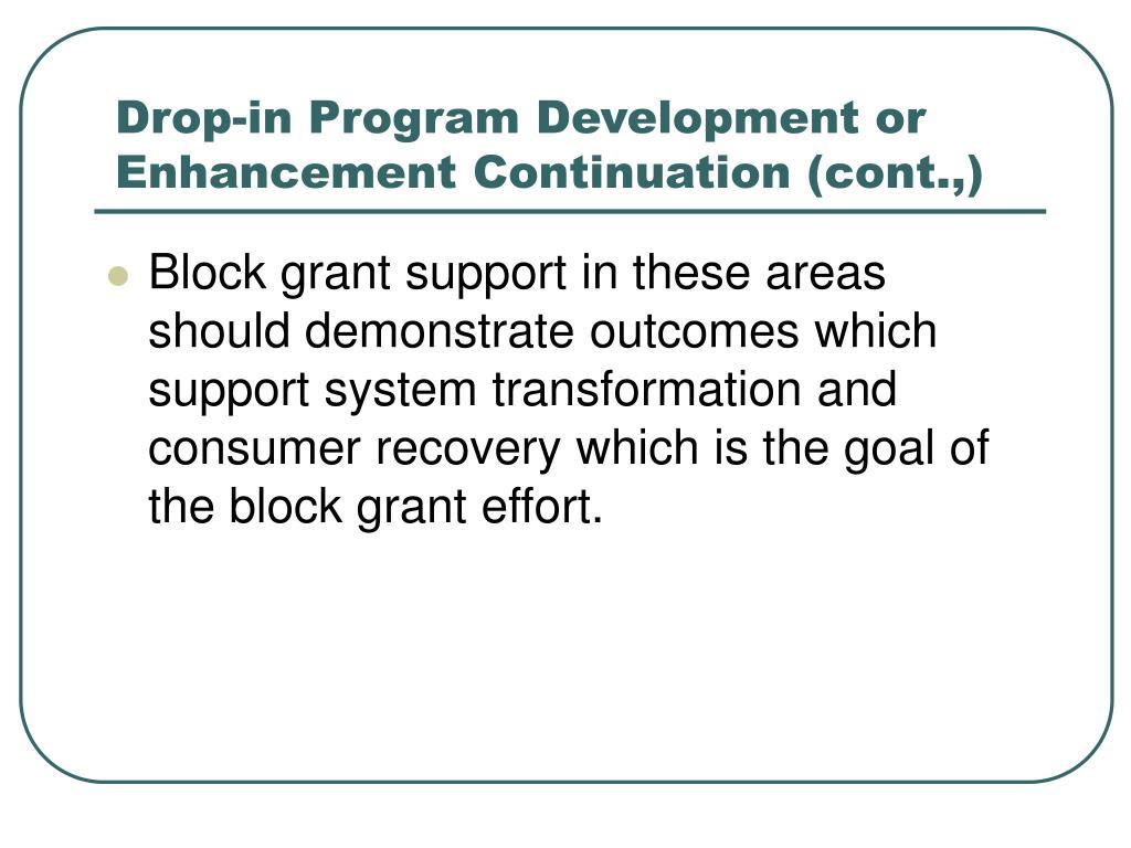 Drop-in Program Development or