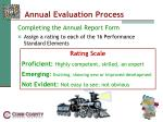 annual evaluation process