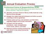 annual evaluation process37