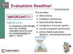 evaluations deadline