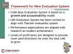 framework for new evaluation system
