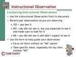 instructional observation26