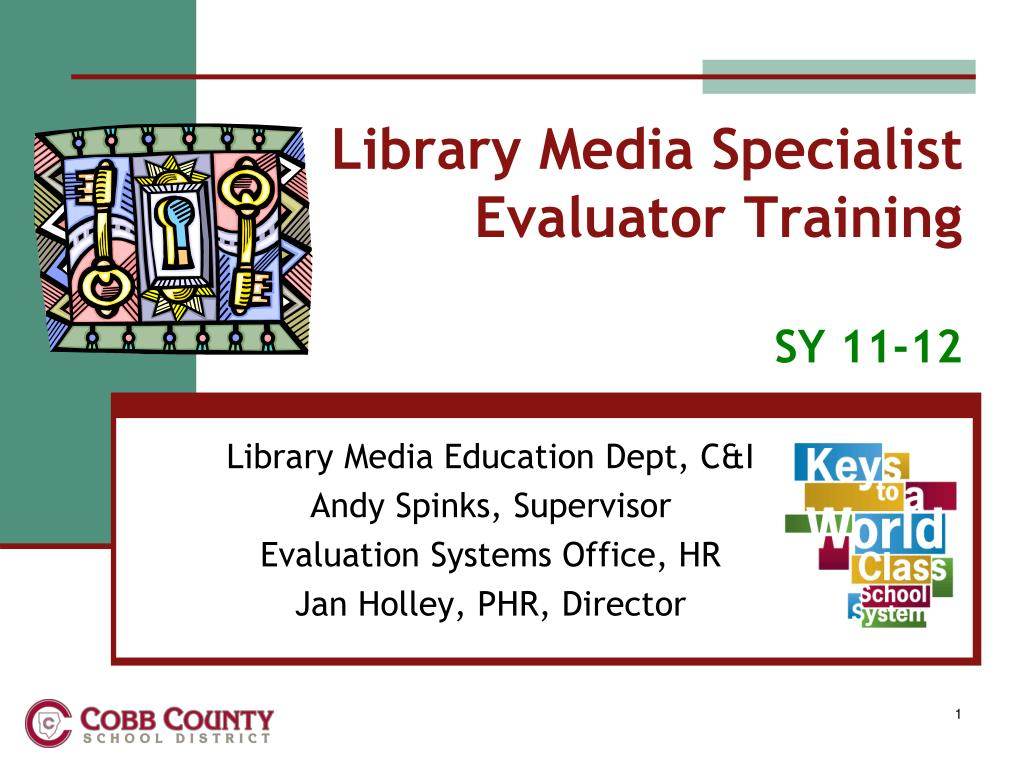library media specialist evaluator training sy 11 12 l.