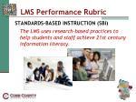 lms performance rubric10