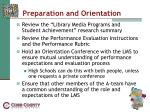 preparation and orientation