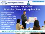medical transcription service for clinics group practices
