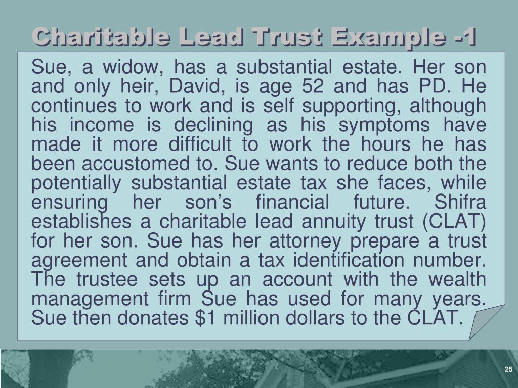 Charitable Lead Trust Example -1