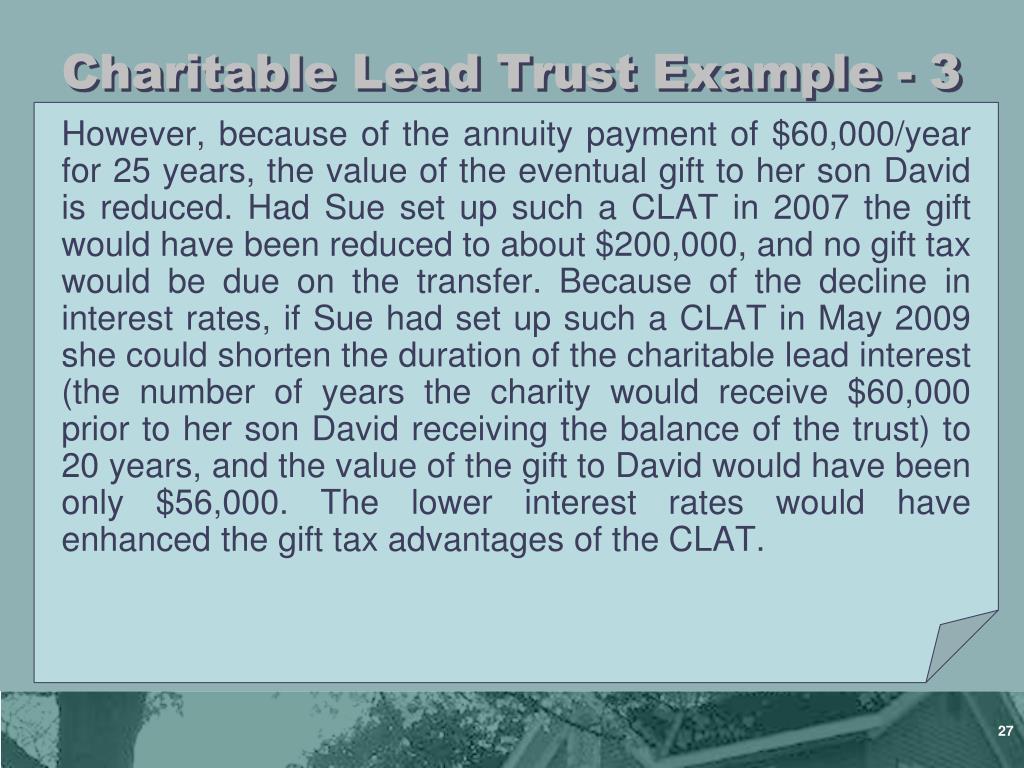 Charitable Lead Trust Example - 3