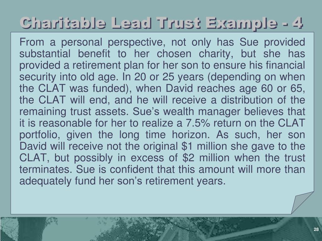 Charitable Lead Trust Example - 4
