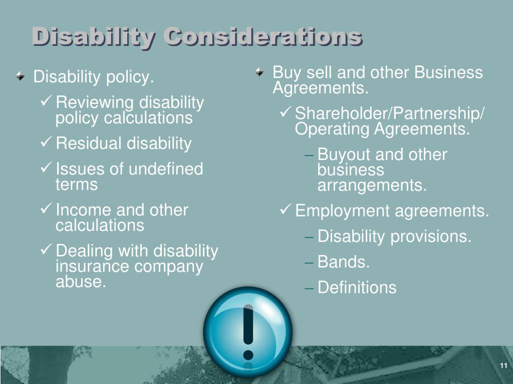 Disability Considerations