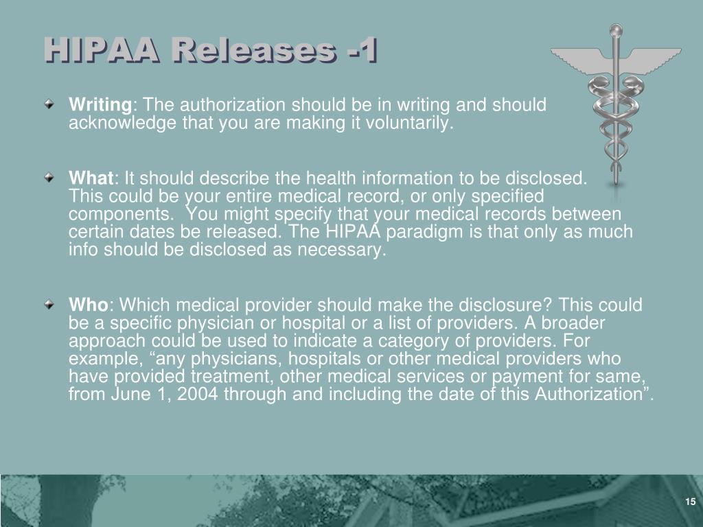 HIPAA Releases -1